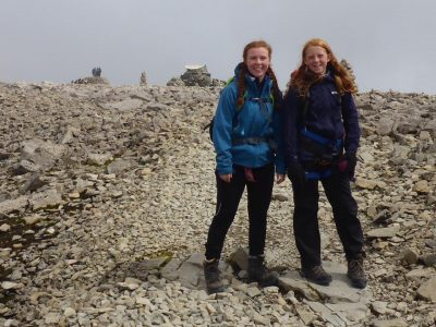 Sisters at the summit of Ben Nevis